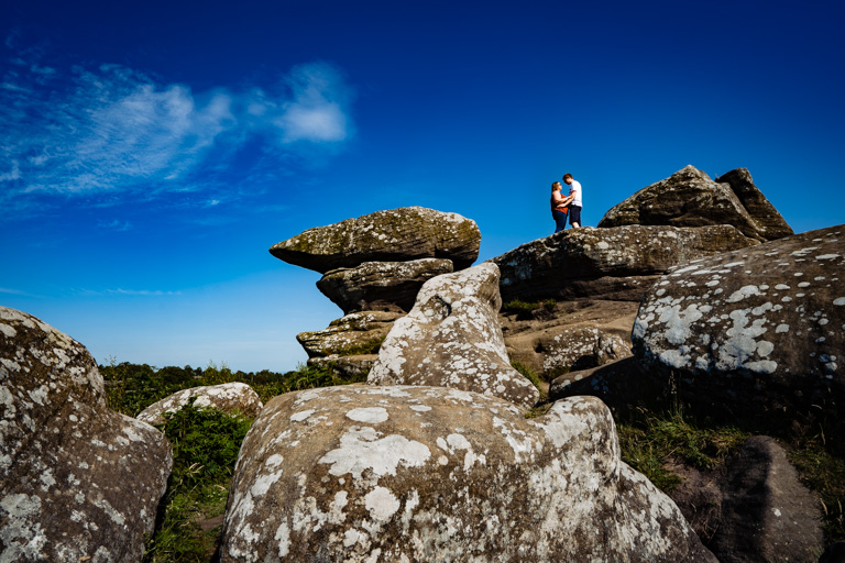 Brimham Rocks Engagement shoot, pre wedding photography, yorkshire photographer, West Yorkshire Wedding Photographer, Bradford Wedding photography. Candid Photography