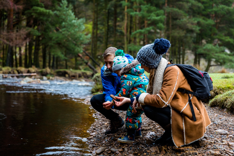 Pre Wedding and Engagement Shoot in Yorkshire. Family shoot on a country walk for leeds wedding photography