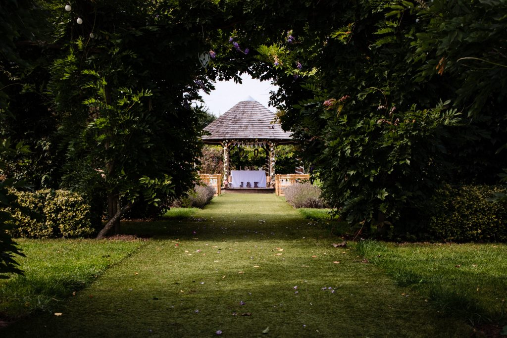 Wedding Photography at Gardens of Yalding, Kent. Festval and outdoor style wedding.