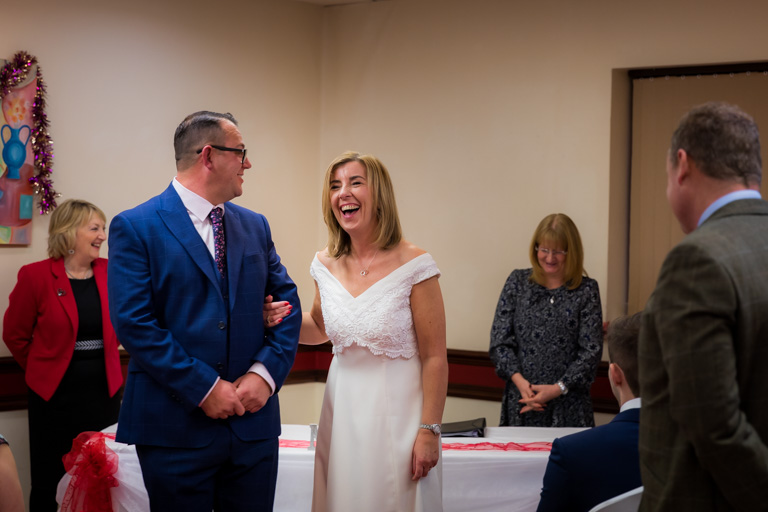 Intimate wedding at St Pierre Hotel Wakefield. Wedding photography West Yorkshire. Candid shots.